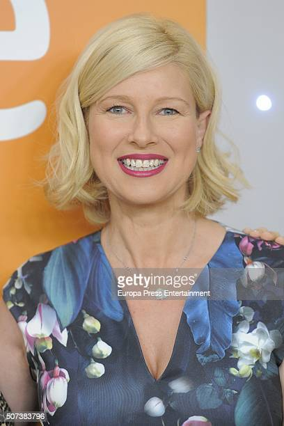 Anne Igartiburu attends press conference of Spanish Candidates to Eurovision on January 28 2016 in Villaviciosa Spain