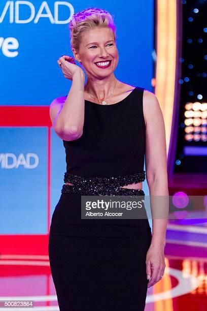 Anne Igartiburu attends RTVE Christmas Season Presentation in Madrid on December 10 2015 in Madrid Spain