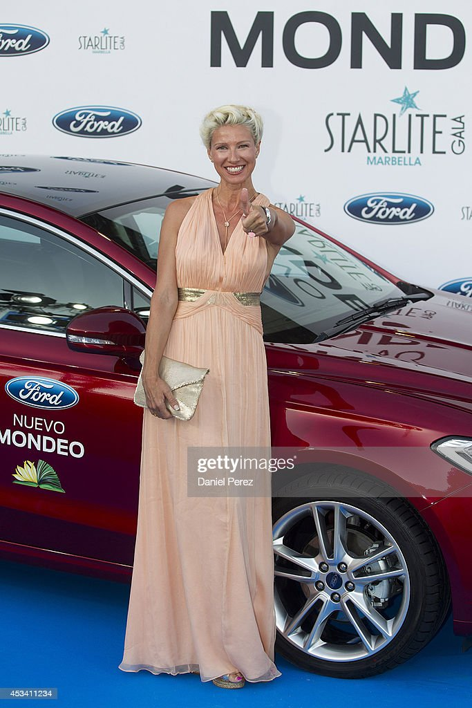 Anne Igartiburu attends the 5th annual Starlite Charity Gala on August 09, 2014 in Marbella, Spain.