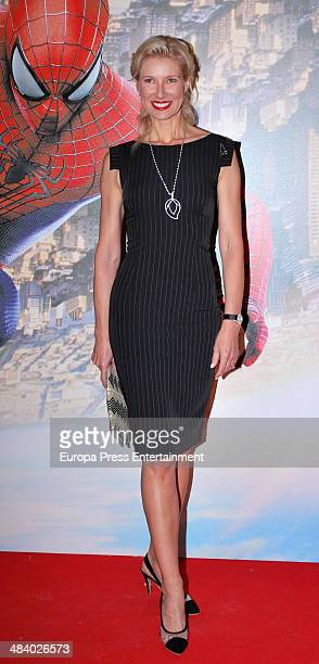 Anne Igartiburu attends 'The Amazing SpiderMan 2 Rise Of Electro' special screening reception at US ambassador's residence on April 10 2014 in Madrid...