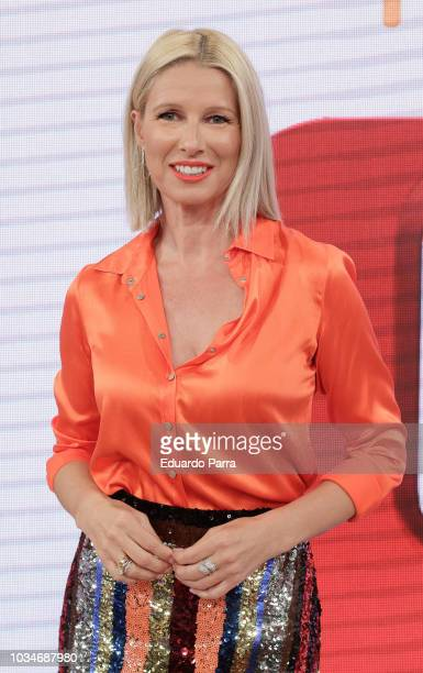 Anne Igartiburu attends the 'Corazon' TV programme press conference at TVS studios on September 17 2018 in Madrid Spain