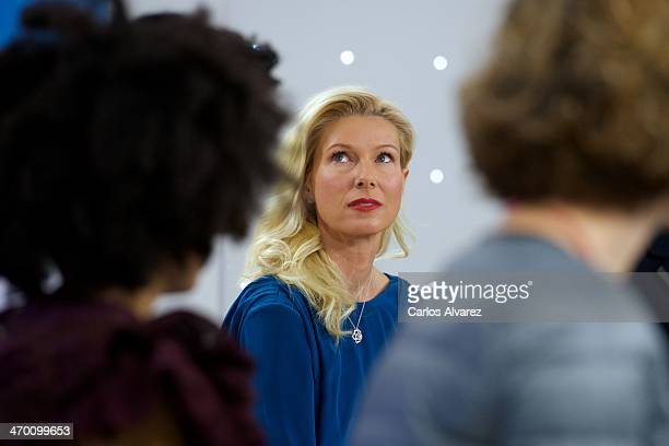Anne Igartiburu attends the 'Eurovision Festival' Spanish candidates 2014 press conference at Torrespana on February 18 2014 in Madrid Spain