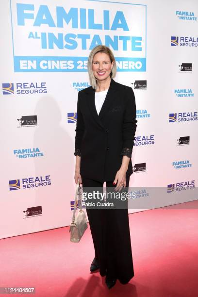 Anne Igartiburu attends the 'Familia al Instante' premiere at Capitol Cinema on January 23 2019 in Madrid Spain