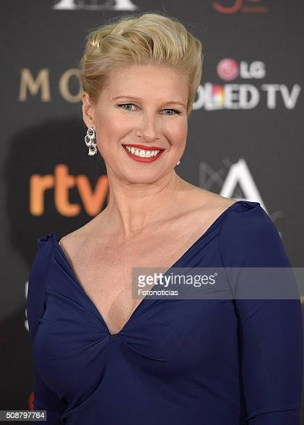 Anne Igartiburu attends the Goya Cinema Awards 2016 Ceremony at Madrid Marriott Auditorium on February 6 2016 in Madrid Spain