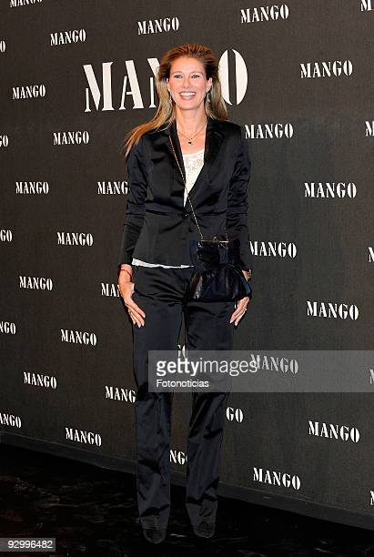 Anne Igartiburu attends the launch party of the Mango collection at the Caja Magica on November 11 2009 in Madrid Spain