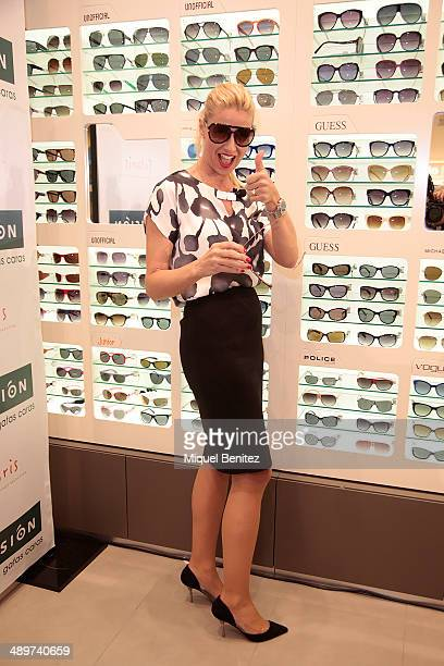 Anne Igartiburu attends the new collection of 'Vision' Flagship Store on May 12 2014 in Barcelona Spain