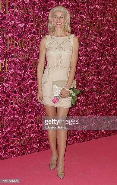 Anne Igartiburu attends the Piaget party photocall at the Casino de Madrid on June 5 2014 in Madrid Spain