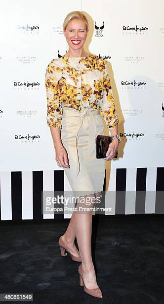 Anne Igartiburu attends the Serrano Lingerie Cocktail Party at El Corte Ingles Serrano Store in Madrid on March 26 2014 in Madrid Spain