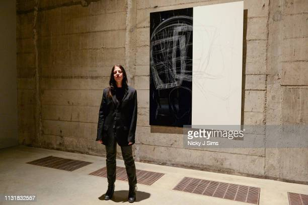Anne Imhof stands for photographers as Tate Modern unveils new BMW Tate Live Exhibition 'Sex' by Anne Imhof at Tate Modern on March 21 2019 in London...