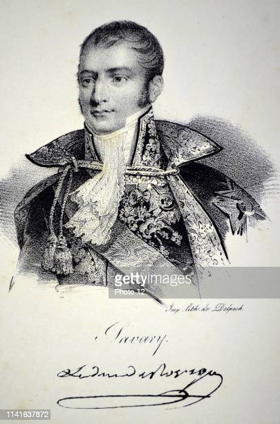 Anne Jean Marie Rene Savary 1st Dic de Rovigo French soldier and diplomat Raised to rang of general in 1805 Lithograph Paris 1832