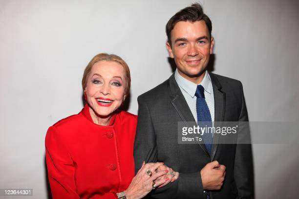 Anne Jeffreys and Emrhys Cooper attend grand reopening of the Charles Aidikoff screening room at the Aidikoff screening room Lightyear Entertainment...