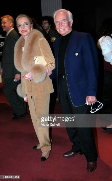 Anne Jeffreys and guest during Opening Night of 'The Graduate' Los Angeles at Whilshire Theatre in Beverly Hills California United States