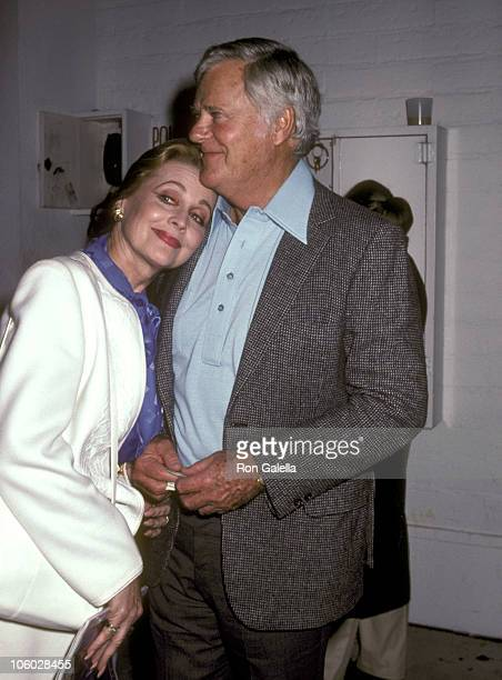 Anne Jeffreys and Robert Sterling during Pierra Cossette's Party for Super Bowl XVII January 30 1983 at Chasen's Restaurant in Beverly Hills...
