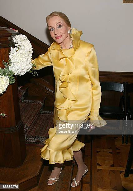 Anne Jeffreys attends the wedding of Michael Feinstein and Terrence Flannery held at a private residence on October 17 2008 in Los Angeles California