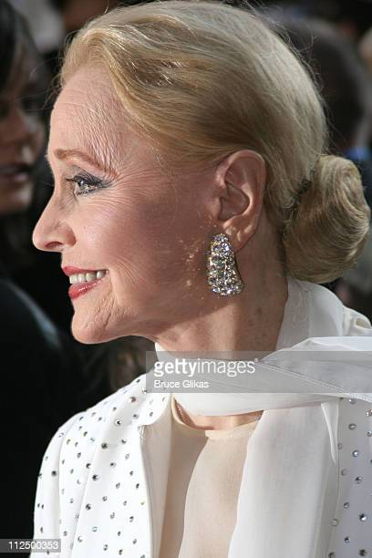 Anne Jeffreys during Opening Night for 'Chitty Chitty Bang Bang' on Broadway Arrivals at The Hilton Theater in New York New York United States