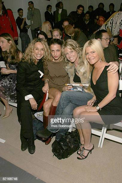 Anne Jones Charlotte Ronson Tracy Ross and Lizzie Grubman attend the Vivienne Tam Fall 2005 fashion show during the Olympus Fashion Week at Bryant...
