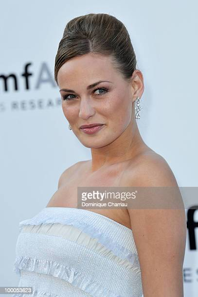 Anne Julia Hagen arrives at amfAR's Cinema Against AIDS 2010 benefit gala at the Hotel du Cap on May 20 2010 in Antibes France