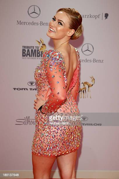 Anne Julia Hagen arrives at Tribute To Bambi at Station on October 17 2013 in Berlin Germany