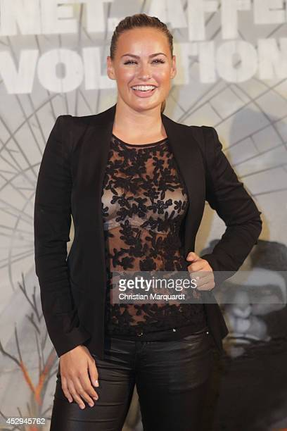 Anne Julia Hagen attends a special preview for the film 'Dawn of the Planet of the Apes' at Freizeitpark Spreepark on July 30 2014 in Berlin Germany