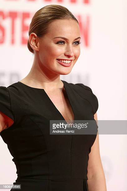 Anne Julia Hagen attends 'Die Hard Ein Guter Tag Zum Sterben' Germany Premiere at Cinestar Potsdamer Platz on February 4 2013 in Berlin Germany