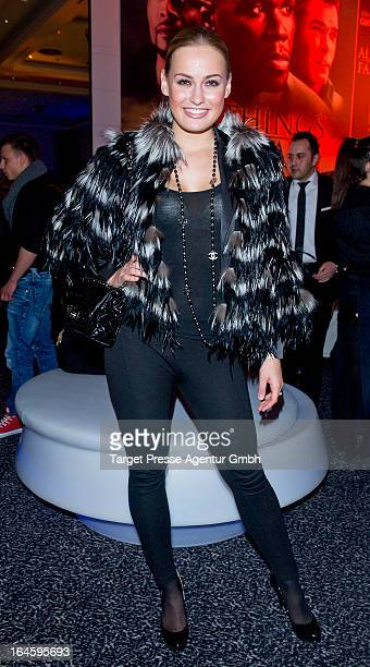 Anne Julia Hagen attends the aftershow party to the german premiere of his movie 'All Things Fall Apart' at Hotel Berlin on March 24 2013 in Berlin...