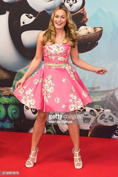 Anne Julia Hagen attends the German premiere of the film 'Kung Fu Panda 3' at Zoo Palast on March 2 2016 in Berlin Germany