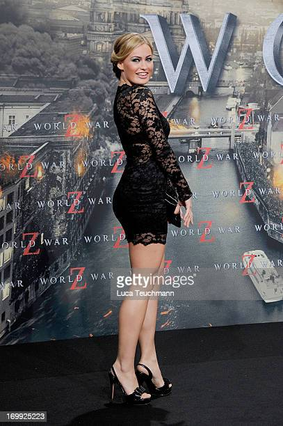 Anne Julia Hagen attends the premiere of 'World War Z' at Sony Centre on June 4 2013 in Berlin Germany