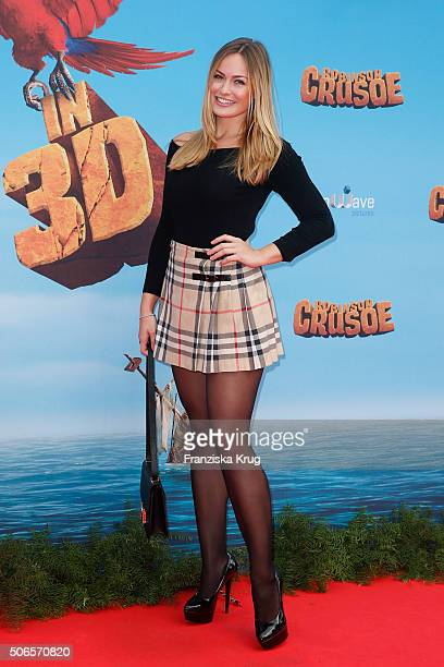 Anne Julia Hagen attends the 'Robinson Crusoe' Berlin Premiere at the Zoo Palast on January 24 2016 in Berlin Germany