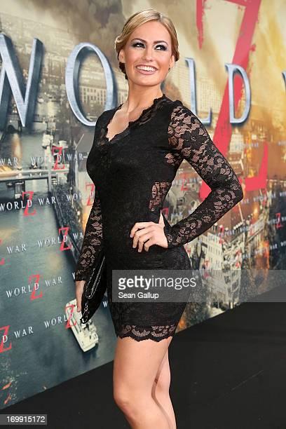 Anne Julia Hagen attends 'WORLD WAR Z' Germany Premiere at Sony Centre on June 4 2013 in Berlin Germany