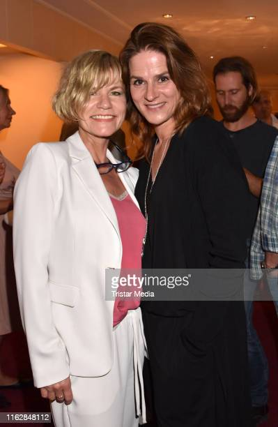 Anne Kasprik and Susann Uplegger attend the Goetz George Award at Astor Film Lounge on August 19 2019 in Berlin Germany