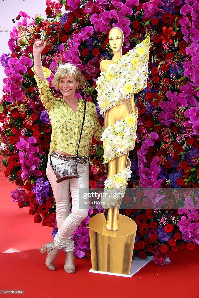 Anne Kasprik arrives to the German Film Award 2015 Lola (Deutscher Filmpreis) at Messe Berlin on June 19, 2015 in Berlin, Germany.