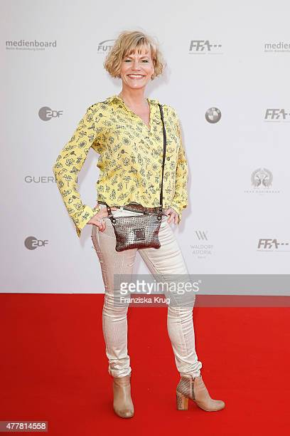 Anne Kasprik attends the German Film Award 2015 Lola at Messe Berlin on June 19 2015 in Berlin Germany