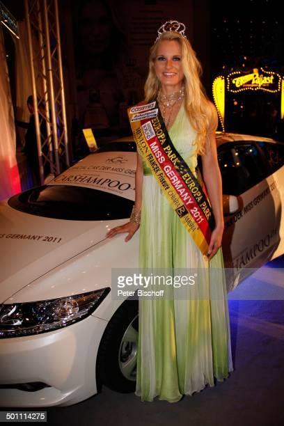 Anne Kathrin Kosch 'Miss Germany'Wahl 2011 'Europa Park' Rust bei Freiburg BadenWürttemberg Deutschland Europa Bühne Auftritt Finale Abendkleid Pkw...