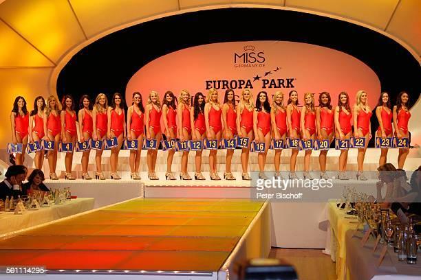 Anne Kathrin Kosch Tiffany Sachs Samantha Striegel die weiteren Missen 'Miss Germany'Wahl 2011 'Europa Park' Rust bei Freiburg BadenWürttemberg...