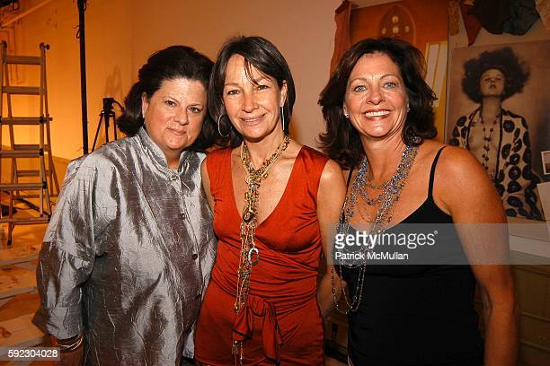 Anne Keating Brooke Neidich and Jennifer Aubrey attend Lyn Devon Debut Collection and Cocktails at 463 Broome St on September 7 2005 in New York City