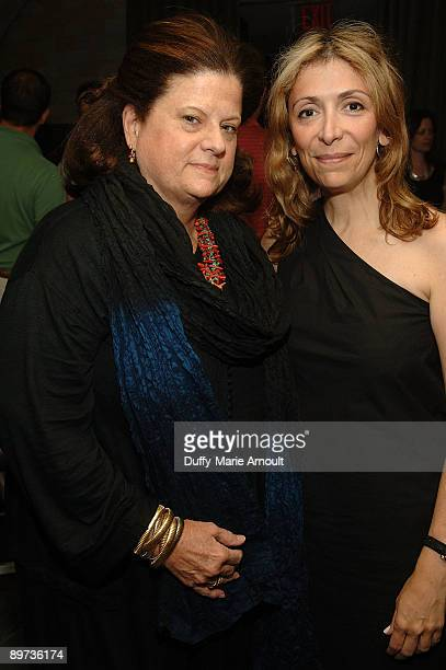 Anne Keating of Bloomingdales and Denise DeLuca attend the VIP screening of Spread at the Bryant Park Hotel Cellar Bar on August 10 2009 in New York...
