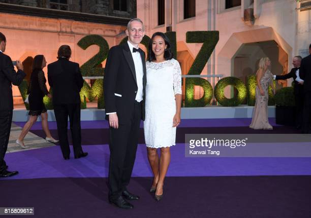 Anne Keothavong and Andrew Bretherton attend the Wimbledon Winners Dinner at The Guildhall on July 16 2017 in London England