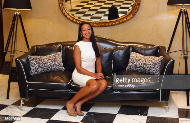 Anne Keothavong of Great Britain poses for a photo at the Pan Americano Hotel during previews ahead of the Fed Cup World Group Two PlayOffs between...