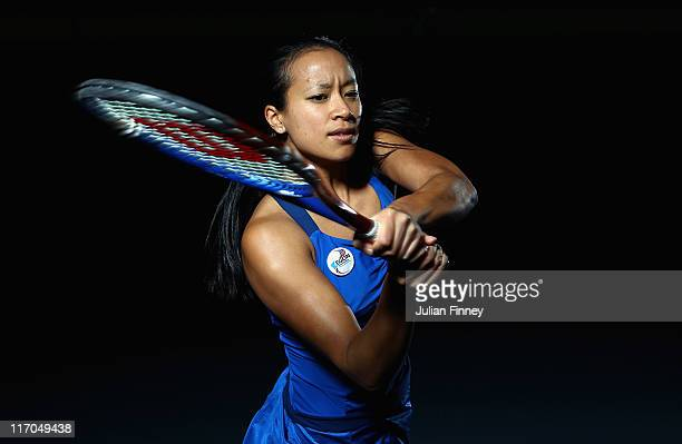 Anne Keothavong of Great Britain poses for the camera at the National Tennis Centre on November 29 2010 in Roehampton England