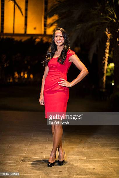 Anne Keothavong of Great Britain posing for a picture before the official team dinner ahead of the Fed Cup Group B matches in the Euro/Africa Zone...