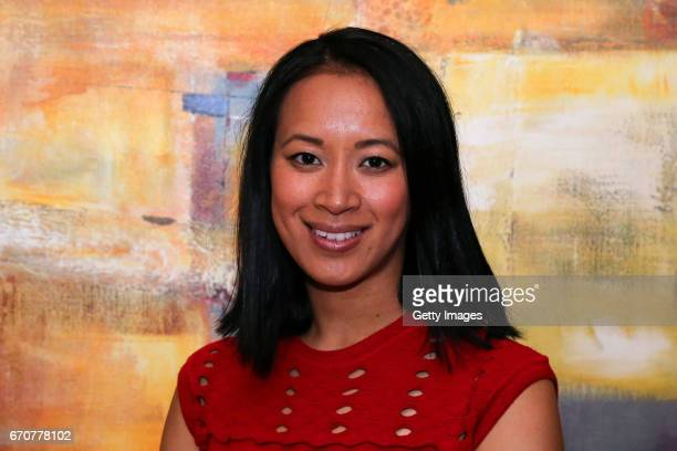 Anne Keothavong poses for a photo following a Great Britain Fed Cup training session at Tenis Club IDU on April 20 2017 in Constanta Romania