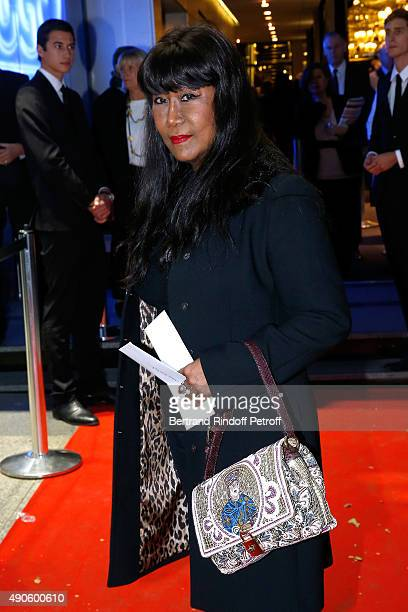 Anne Kerchache attends the 'Le nouveau Stagiare' movie Premiere to Benefit 'Claude Pompidou Foundation' held at Cinema 'UGC Normandie' on September...