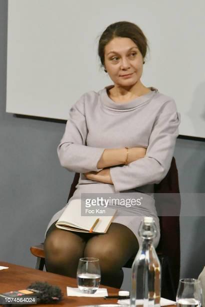 Anne Kerlan writer and director of Centre d'études sur la Chine Moderne et Contemporaine attends 'Wang Bing En Conversation With Anne Kerlan' At...