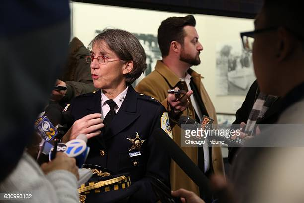 Anne Kirkpatrick as head of the Chicago Police Department's Bureau of Professional Standards attends a new recruits event on December 13 2016...
