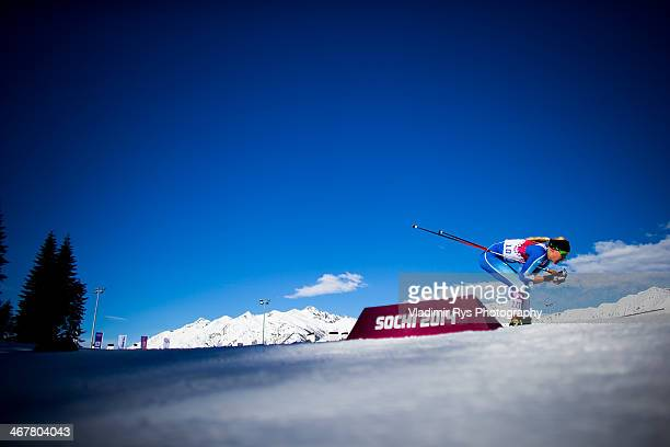 Anne Kylloenen of Finland in action in the Ladies' Skiathlon 75 km Classic 75 km Free during day one of the Sochi 2014 Winter Olympics at Laura...