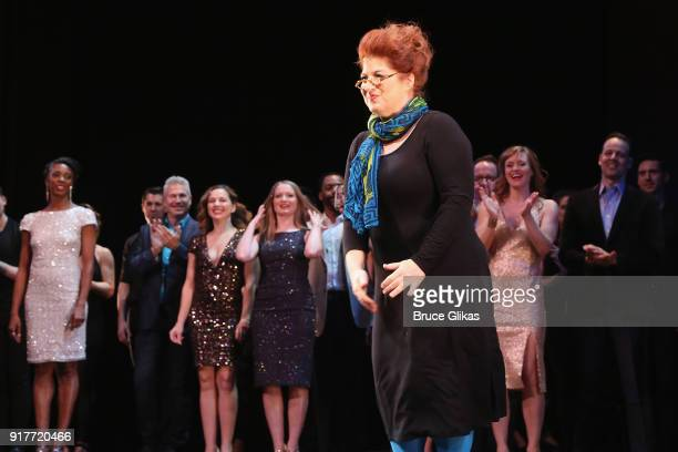 Anne L Nathan takes the curtain call at the 'Thoroughly Modern Millie' 15th Anniversary Reunion Concert at The Minskoff Theater on February 12 2018...