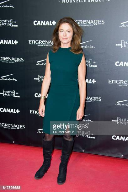 Anne Landois attends 'Engrenages' Photocall during the 19th Festival of TV Fiction at La Rochelle on September 16 2017 in La Rochelle France