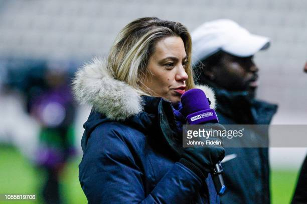 Anne Laure Bonnet Bein Sport during the UEFA Women's Champions League match between Paris Saint Germain and Linkopings FC at Stade Jean Bouin on...