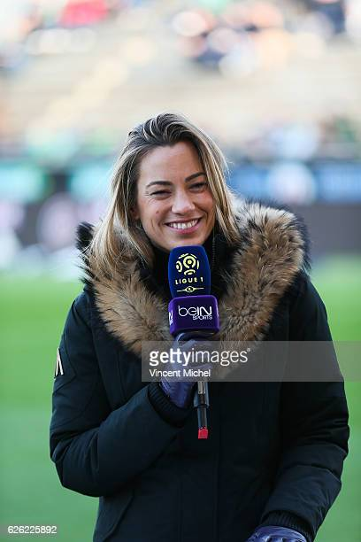 Anne Laure Bonnet Bein Sports during the French Ligue 1 match between Angers and Saint Etienne on November 27 2016 in Angers France