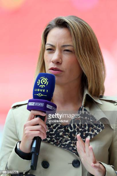 Anne Laure Bonnet BeIn Sports during the Ligue 1 match between Stade Rennais and Montpellier Herault at Roazhon Park on May 7 2017 in Rennes France